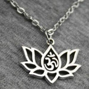 Jewelry - ✨ NEW Lotus Flower w/ OM ॐ Symbol Necklace ✨